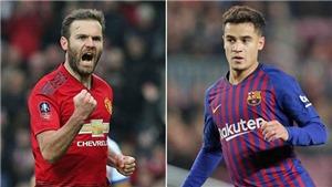 CHUYỂN NHƯỢNG M.U 31/1: Juan Mata xuất hiện ở Barcelona, M.U kích hoạt 'bom tấn' Coutinho
