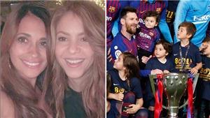 Vợ Messi và Shakira xóa bỏ mâu thuẫn, cùng selfie mừng Barca vô địch Liga