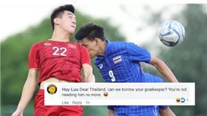 Cộng đồng mạng mỉa mai U22 Thái Lan: 'Thấy Park khổng lồ xoa đầu người bé nhỏ Sasa Todic'