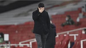 Arsenal 0-0 Crystal Palace: Đứt mạch thắng, thày trò HLV Arteta trở lại mặt đất