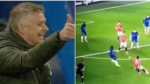 MU: CĐV thích thú với khoảnh khắc Solskjaer bật cười trận Chelsea