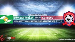 Trực tiếp bóng đá: SLNA vs Hải Phòng (17h00 hôm nay), V League 2019