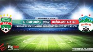 Soi kèo bóng đá: Bình Dương đấu với HAGL (17h00 hôm nay). Trực tiếp V League 2019