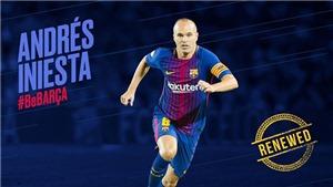 Iniesta kí mới hợp đồng, gắn bó trọn đời với Barcelona