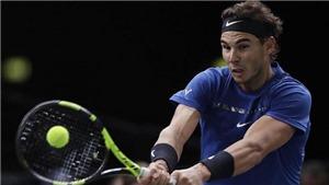 TENNIS ngày 3/11: Nadal vào tứ kết Paris Masters. Federer không quan tâm tới thứ hạng ATP