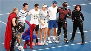 Federer cùng Người nhện và Thor khuấy đảo trước thềm Australian Open 2018