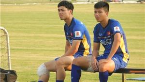 Công Phượng chấn thương, U23 Viêt Nam tập với chỉ 15 cầu thủ