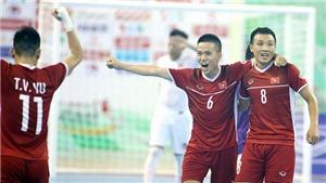 Bóng đá Việt Nam hôm nay: Futsal Việt Nam đấu Lebanon (22h00)