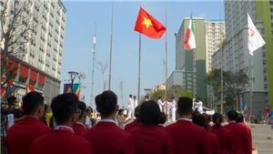 Lễ Thượng cờ của Đoàn thể thao Việt Nam tại ASIAD 2018