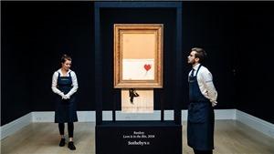 Vụ tranh Banksy tự hủy đã không diễn ra như mong muốn của nghệ sĩ