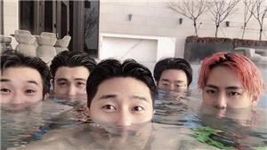 Chết cười: Hội bạn thân nổi tiếng của V xấu hổ hết sức khi đi quảng bá album mới của BTS