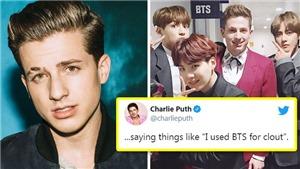 Charlie Puth tức tối vì bị nói dùng BTS gây chú ý, ARMY 'chia rẽ'