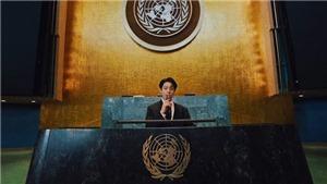 Phát biểu mạnh mẽ ở Liên hợp quốc, Jungkook BTS lên thẳng No.1 xu hướng toàn cầu