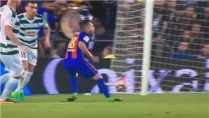 Pha diễn kịch kiếm penalty 'siêu thô' của sao Barca gây sốt