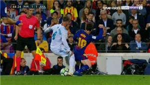 Kinh điển Barcelona – Real Madrid: Messi đánh thẳng vào chân Ramos để trả đũa cho Suarez