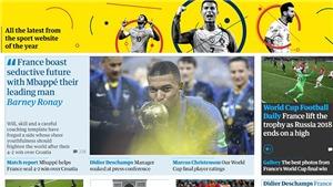 Báo chí thế giới khẳng định Pháp là 'vương triều mới của bóng đá'