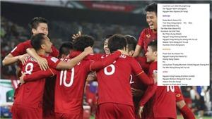 Đội tuyển Việt Nam: Chết cười với tên cầu thủ Việt phiên âm từ tiếng Thái