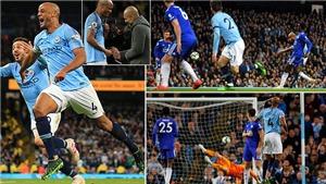 VIDEO Man City 1-0 Leicester: Kompany tỏa sáng, Man Xanh cận kề ngôi vương