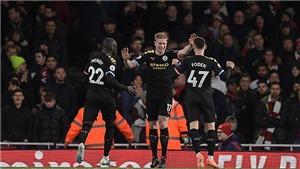 Kết quả bóng đá Anh: Arsenal 0-3 Man City. Màn trình diễn siêu hạng của De Bruyne