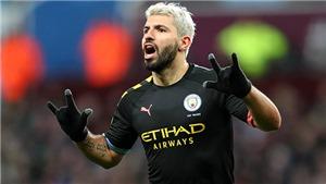 Aston Villa 1-6 Man City: Aguero lập kỷ lục hat-trick, Man xanh 'đánh tennis' ở Villa Park