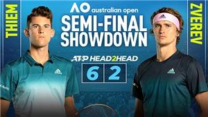 Trực tiếp Úc mở rộng, Thiem vs Zverev: Vé chung kết cho Hoàng tử đất nện?