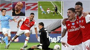 Video bàn thắng Arsenal 2-0 Man City: Aubameyang rực sáng, Pháo thủ vào chung kết cúp FA