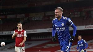 Arsenal 0-1 Leicester: Vardy sắm vai người hùng, Aubameyang vẫn tịt ngòi, Pháo thủ thua đau