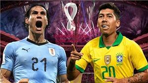 Link xem trực tiếp bóng đá. Uruguay vs Brazil. Trực tiếp vòng loại World Cup khu vực Nam Mỹ.