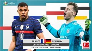 Lịch thi đấu bóng đá hôm nay. Trực tiếp bóng đá EURO 2021: Pháp vs Đức. VTV3, VTV6