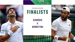 Link xem trực tiếp tennis Djokovic vs Berrettini. Trực tiếp chung kết đơn nam Wimbledon 2021