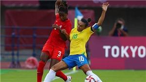 Trực tiếp bóng đá VTV5 VTV6: Nữ Canada vs Brazil, Olympic 2021 (15h hôm nay)
