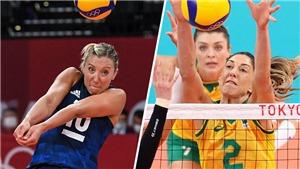 Xem trực tiếp bóng chuyền nữ Brazil vs Mỹ, tranh HCV Olympic 2021 (11h30, 8/8)