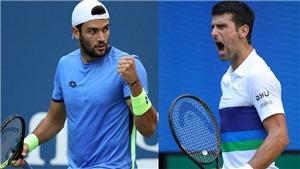 Xem trực tiếp tennis Djokovic vs Berrettini, US Open 2021