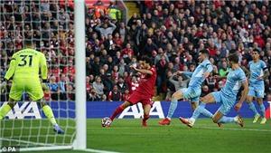 Liverpool 2-2 Man City: Salah tỏa sáng, Liverpool và Man City rượt đuổi ngoạn mục