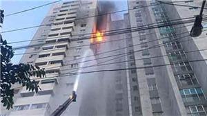 Cháy tại chung cư CT3 Bắc Hà (Hà Đông, Hà Nội) nghi do chập điện