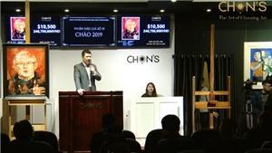 Tranh chân dung HLV Park Hang Seo đạt giá 246 triệu đồng