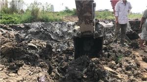 Nổ lớn công trình thi công bờ kè hồ Búng Xáng tại Cần Thơ, hai người bị thương