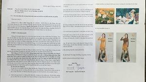 Đạo tranh in vải may áo dài: Công ty Phan Trần xin lỗi họa sĩ Bùi Trọng Dư