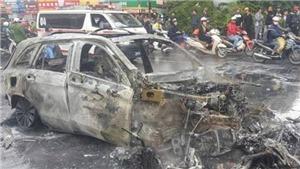 Tai nạn liên hoàn, Mercedes GLC200 cháy thành tro, một người chết