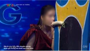 Gameshow 'Kèo này ai thắng' gây búc xúcvì để cô gái ngậm củ cải lên sóng VTV3