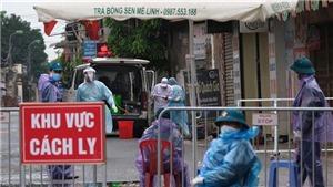 Hình ảnh Hà Nội phong tỏa thôn Hạ Lôi do liên quan bệnh nhân 243