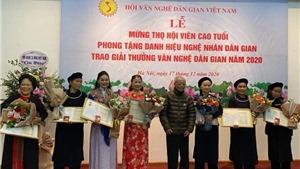 Trao giải thưởng Văn nghệ Dân gian và phong tặng danh hiệu Nghệ nhân dân gian năm 2020