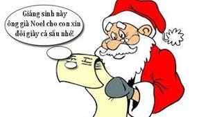 Truyện cười: Làm khó ông già Noel