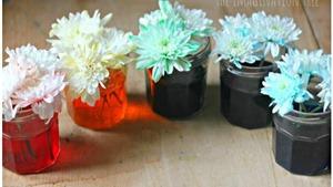Hoa trắng cũng có thể nhuộm màu Ombre cực phong cách!