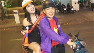 Phi Thanh Vân đi 'bão' bằng xe máy mừng U22 Việt Nam giành HCV SEA Games 30
