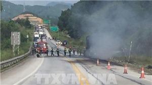 Xác định danh tính thi thể gần xe đầu kéo cháy trên cao tốc Nội Bài – Lào Cai