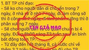 Hà Nội: Thông tin 'Sẽ không cho người dân di chuyển trong 7 ngày' là giả mạo, sai sự thật