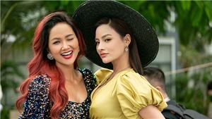 Vũ Thu Phương khoe vòng 1 nóng bỏng chấm thi Hoa hậu Hoàn vũ Việt Nam