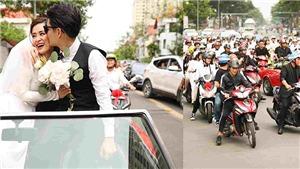 Fan chạy xe máy, 'hộ tống' Đông Nhi về nhà Ông Cao Thắng