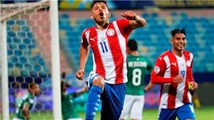 Paraguay 3-1 Bolivia: Angel Romero lập cú đúp, Paraguay tràn trề hi vọng đi tiếp